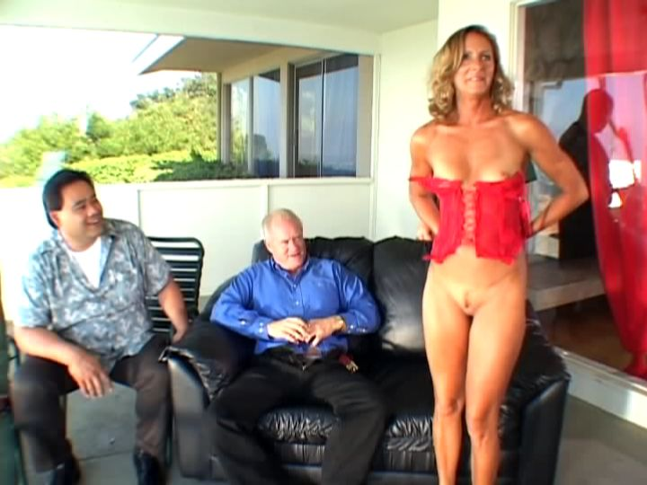 married woman Ginger Outdoor Stripping