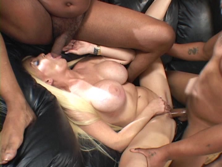 Busty Wife Interracial Threesome Sex