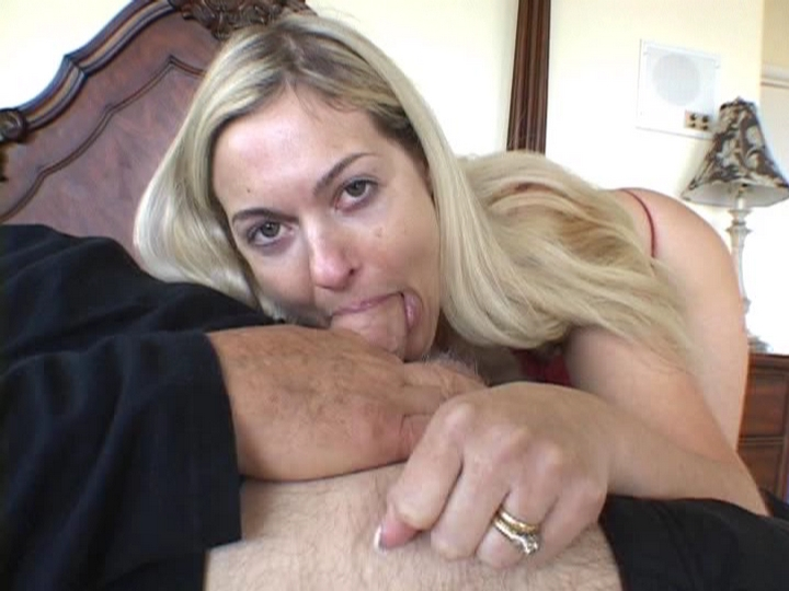 Blonde Housewife Cock Gagged