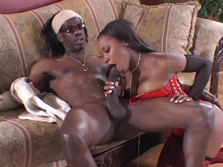 This clips begins with horny ebony Molly showing off her tits and swallowing a huge black wang. This cheating wife savors every inch of it by slurping it with her lips and once it got stiff, the guy took it out and made her taking it by slamming it into her slit.