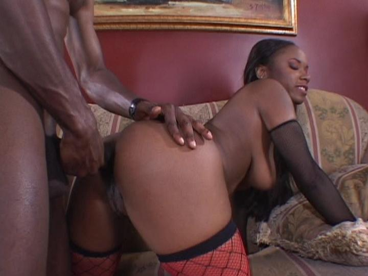 Horny Ebony Wife Enjoying a Big Cock